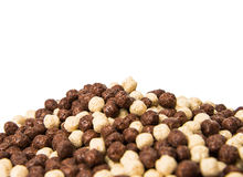 Chocolate cereals isolated Stock Images