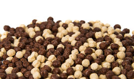 Chocolate cereals isolated Stock Photography