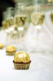 Chocolate and champagne Royalty Free Stock Photos