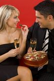 Chocolate and champagne Stock Image