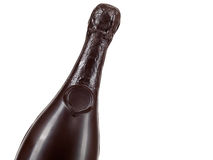 Chocolate Champagne Bottle Fotos de Stock Royalty Free