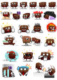 Chocolate Characters Sticker Stock Images