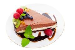 Chocolate cheese cake stock image