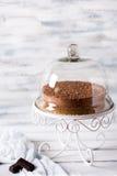 Chocolate cheese cake Stock Photos