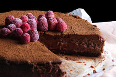 CHOCOLATE CHEESE CAKE Royalty Free Stock Photography