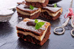 Chocolate cheese cake Royalty Free Stock Images