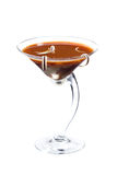 Chocolate cheese martini cocktail Stock Images