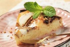 Chocolate Cheese Sponge Cake Royalty Free Stock Photography