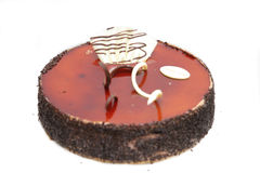 Chocolate cheesecake. Isolated on withe chocolate cheesecake Royalty Free Stock Images