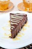 Chocolate cheesecake Stock Photos