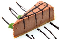 Chocolate cheesecake Stock Photography
