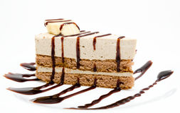 Chocolate cheesecake Stock Images