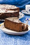 Chocolate Cheesecake. With three kinds of chocolate Royalty Free Stock Photos