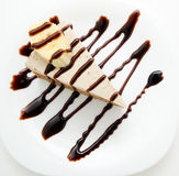 Chocolate cheesecake, top view Stock Image