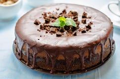 Free Chocolate Cheesecake With Chocolate Glaze Stock Photography - 47911082