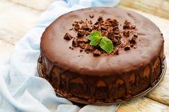 Free Chocolate Cheesecake With Chocolate Glaze Stock Image - 47911091