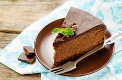 Free Chocolate Cheesecake With Chocolate Glaze Stock Photo - 47911100