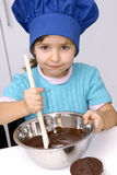Chocolate Chef kid. Royalty Free Stock Images