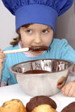 Chocolate Chef kid. Royalty Free Stock Photo
