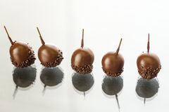 Chocolate cherries with liqueur and Armagnac Royalty Free Stock Photos