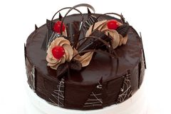 Chocolate cherry cake Royalty Free Stock Images