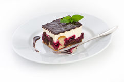 Chocolate and cherry cake Royalty Free Stock Photo