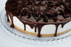 Chocolate cherry cheese cake Royalty Free Stock Images