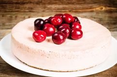 Chocolate-cherry cheesecake Royalty Free Stock Images