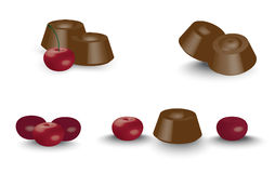 Chocolate with cherry Royalty Free Stock Photos