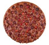 Chocolate cherry tart stock images