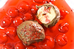 Chocolate Cherry Truffles stock photography