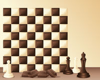 Chocolate chess Royalty Free Stock Photography