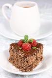 Chocolate chestnut cake. Royalty Free Stock Photography