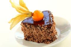 Chocolate chestnut cake. Royalty Free Stock Images