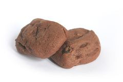 Chocolate Chewy Brownie Cookies Stock Photos