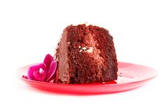 Chocolate chiffon cake Royalty Free Stock Images