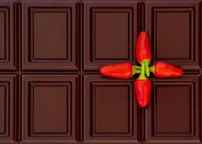 Chocolate and chili pepper Stock Photo