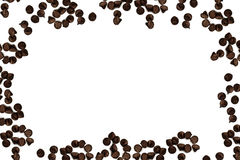 Chocolate chip. Tasty chocolate chips on a white background Royalty Free Stock Photo