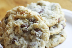 Chocolate Chip Almond Cookies Royalty Free Stock Images