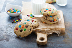 Chocolate Chip And Candy Cookie Royalty Free Stock Images