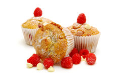 Chocolate Chip And Raspberry Muffins Stock Images
