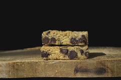 Chocolate chip bar cookie Royalty Free Stock Photo