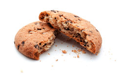 Chocolate chip bite cookies isolated Stock Image