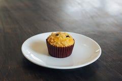 Chocolate chip Breakfast muffin stock photo