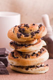 Chocolate chip brioche buns. Royalty Free Stock Photography
