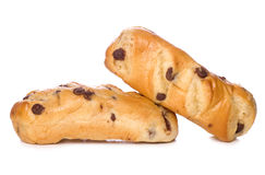 Chocolate chip brioche rolls Royalty Free Stock Image