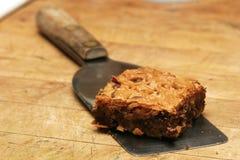 Chocolate chip brownie Stock Photos