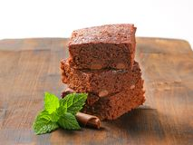 Chocolate Chip Brownies Stock Photography