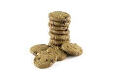 Chocolate chip and Cashew nut cookies Royalty Free Stock Image