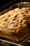 Chocolate Chip Cherry cake Stock Photo